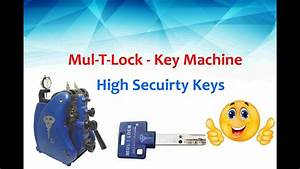 Mul-t-lock Key Machine - Quick User Guide