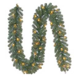 shop holiday living 9 ft pre lit indoor outdoor ellston pine artificial christmas garland with