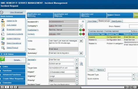 BMC Remedy User Software Informer: Screenshots