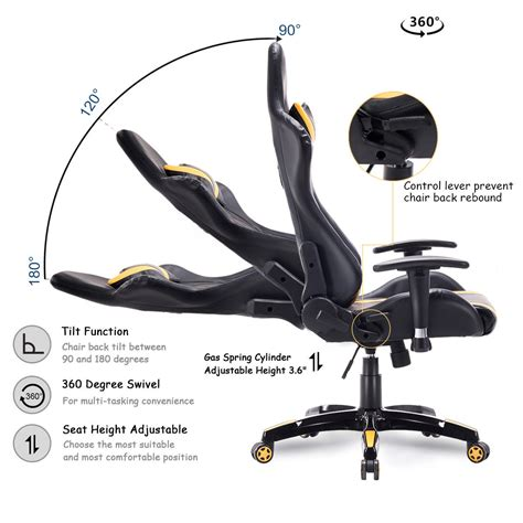 giantex high  executive racing style gaming chair