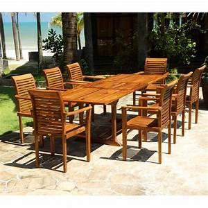 Salon Jardin Teck : ensemble mobilier de jardin en teck huil avec table ~ Melissatoandfro.com Idées de Décoration