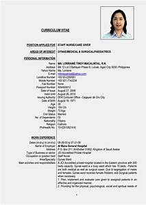 gallery of latest curriculum vitae format With latest cv format