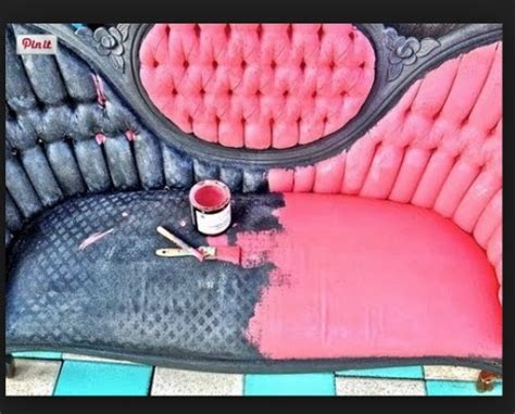 Spray Paint Leather Sofa by How To Paint A Or Upholstery Debis Design Diary