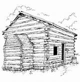 Coloring Pages Cabin Log Lincoln Printable Adults Sheet Sheets Books Popular sketch template