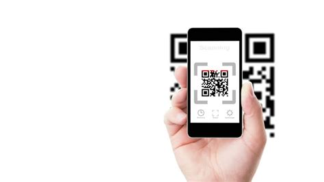how do i scan a qr code with my iphone scanning qr code stock footage