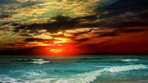 wallpaper sea   wallpaper  ocean sunset shore clouds nature