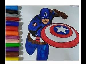 Captain America Coloring Book Colouring Pages For Kids