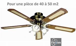 Ventilateur Plafond Reversible : ventilateur luminaire de plafond bal ares noyer farelek ~ Voncanada.com Idées de Décoration