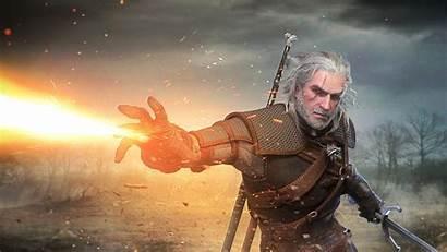 Witcher Geralt Rivia Hunt Wild Sword Games