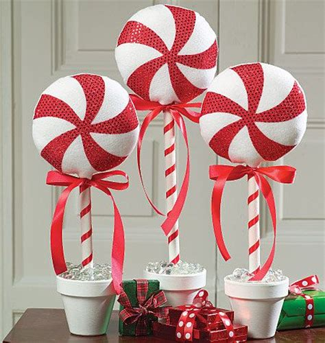 christmas whimsy peppermint topiary christmas