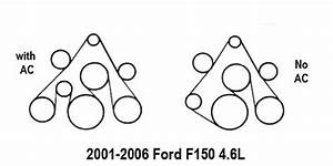 2001-2006 Ford F150 4 6l Serpentine Belt Diagram