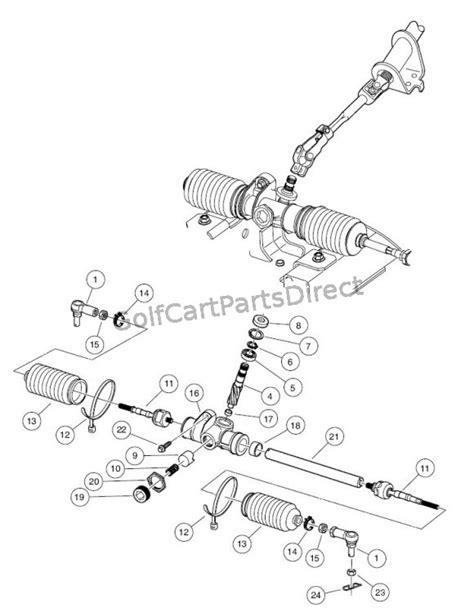 steering gear assembly golfcartpartsdirect