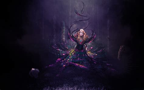 fantasy women dark magic hd  wallpaper