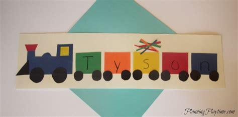 5 adorable preschool name crafts 289 | Preschool name craft train
