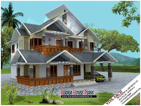 sqft kerala village style slope roof house