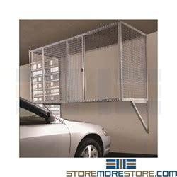 wire parking garage storage cage locker wall mounted