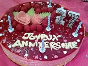 Image De Gateau D Anniversaire : g teau d 39 anniversaire bavarois la framboise recette de ~ Melissatoandfro.com Idées de Décoration