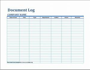 image gallery log template With document register template free