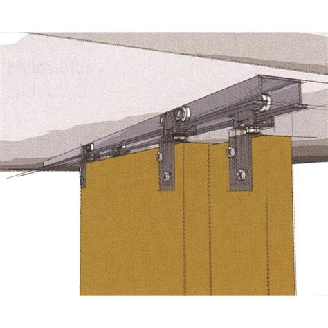 Closet Door Sliding Track by Hettich 72 In Bi Pass Door Sliding Closet Door Track Kit