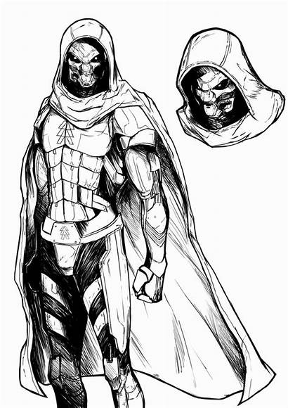 Destiny Exo Deviantart Ghost Drawing Character Bungie