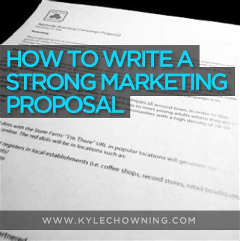 write  strong marketing proposal wfree template