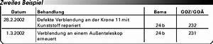Bema Abrechnung : abrechnung nach bema und goz wiederherstellungsma nahmen eine gegen berstellung ~ Themetempest.com Abrechnung