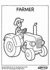 Farmer Coloring Worksheets Kidloland Printable Worksheet Pages Educational sketch template