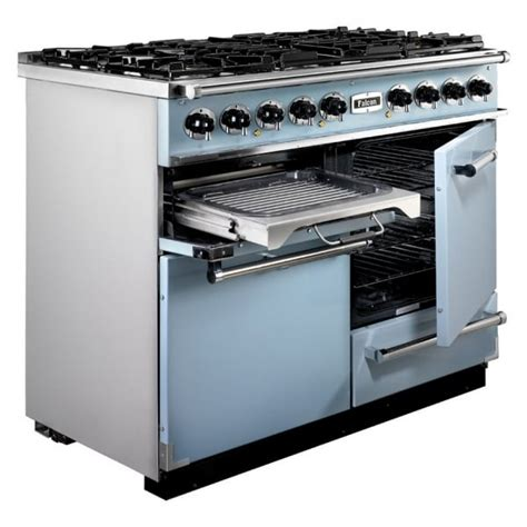falcon range cooker falcon range cookers 1092 deluxe dual fuel range cooker f1092dxdfca ng china blue with brushed