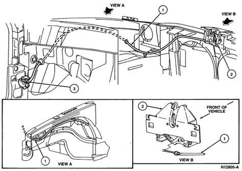 service manual replace hood release cable