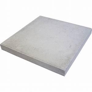 Dalle Composite 50x50 : dalle proven ale en b ton gris x cm x ep 50 mm ~ Premium-room.com Idées de Décoration