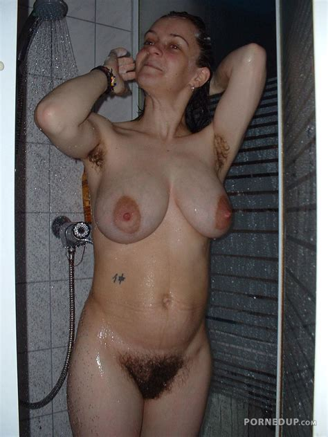 Hairy Saggy Tits In Shower Porned Up