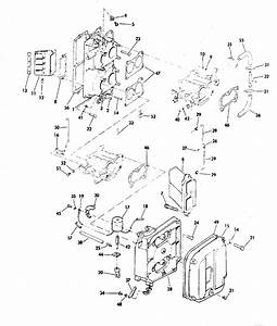 Evinrude Intake Manifold Parts For 1978 85hp 85895c Outboard Motor