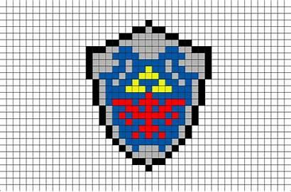 Pixel Shield Link Grid Zelda Template Bit