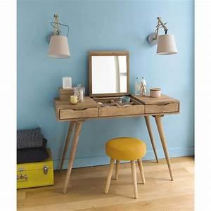 Dressing Maison Du Monde : solid mango wood vintage dressing table trocadero ~ Nature-et-papiers.com Idées de Décoration