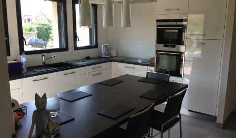 modele cuisine avec ilot central table impressionnant modele cuisine avec ilot central 14
