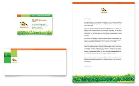 lawn maintenance business card letterhead template design