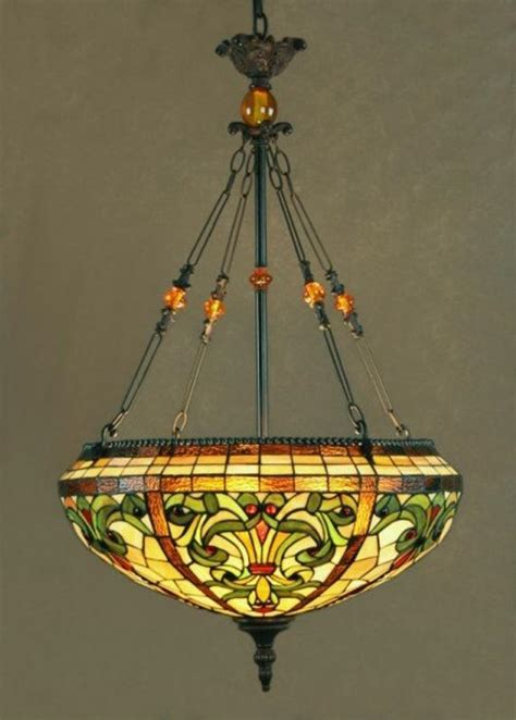 stained glass chandelier dale stained glass pendant chandelier topaz baroque