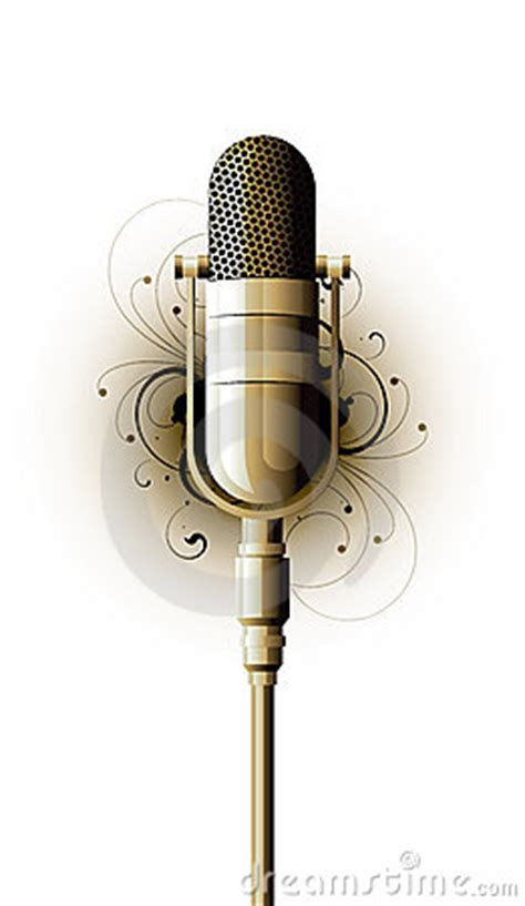 fashioned microphone royalty  stock photo image