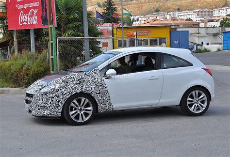 corsa opel door facelift major spyshots autoevolution