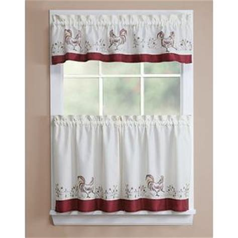 kmart curtains and valances essential home rooster 56x12 valance home home decor