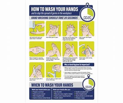 Poster Wash Hands Workplace A2 Catering Bar
