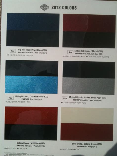 are 2012 colors known yet harley davidson forums