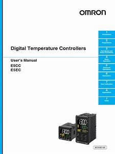 Programaci U00f3n De Control De Temperatura Omron  Modelo E5cc