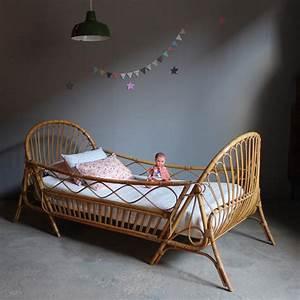 Lit Bebe Rotin : lit rotin vintage enfant evolutif atelier du petit parc ~ Teatrodelosmanantiales.com Idées de Décoration