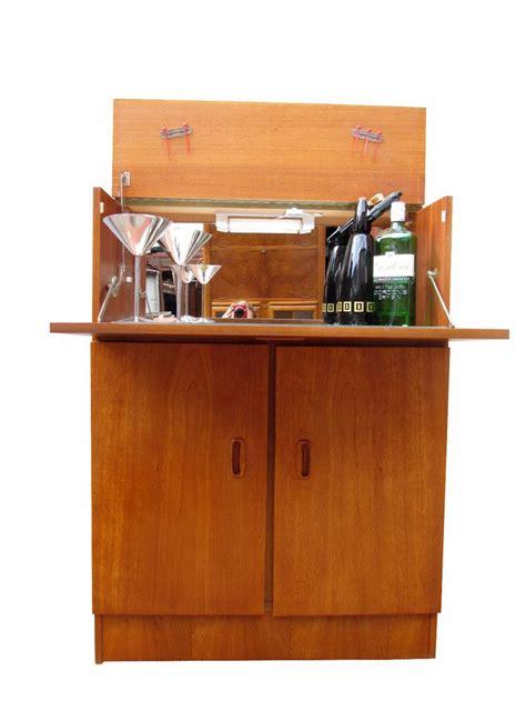 solid wood bar cabinet teak mid century danish modern 1960s vintage drinks bar
