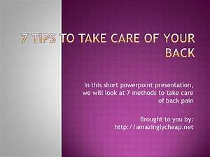 7 Tips To Take Care Of Your Back