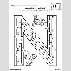 Uppercase Letter N Maze Worksheet Myteachingstationcom