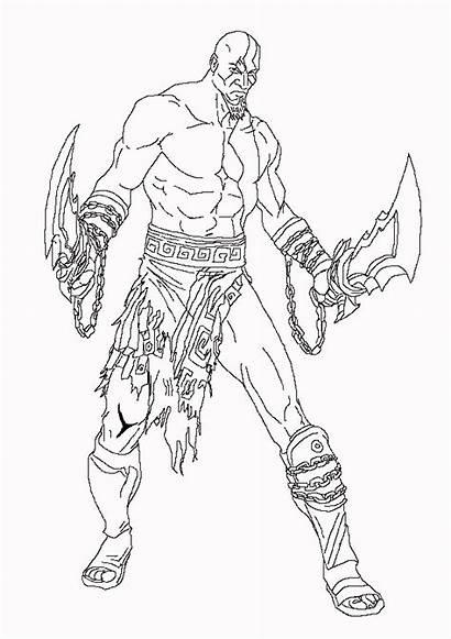 Kratos Lineart Lines Shaky Deviantart Favourites