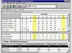 Editors Easy Schedule Maker Shareware Easy Schedule