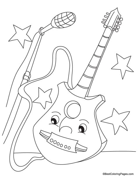 guitar coloring page   guitar coloring page